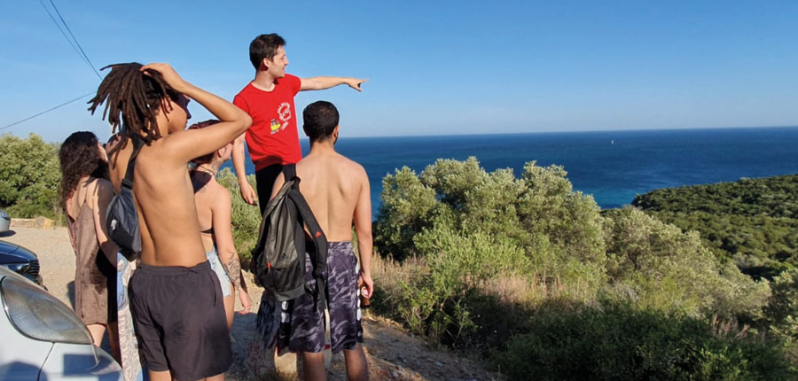 Our guide showing the gorgeous coast